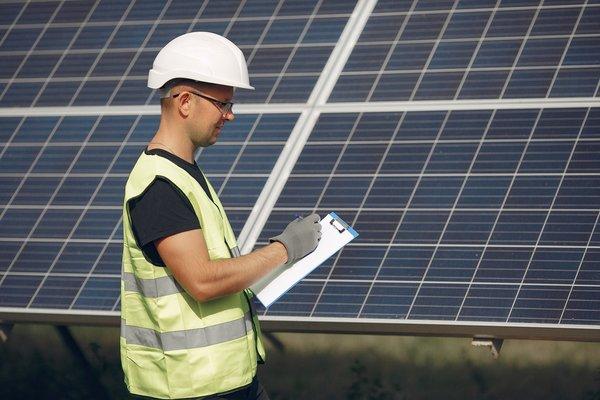 Plan du panneau solaire photovoltaïque